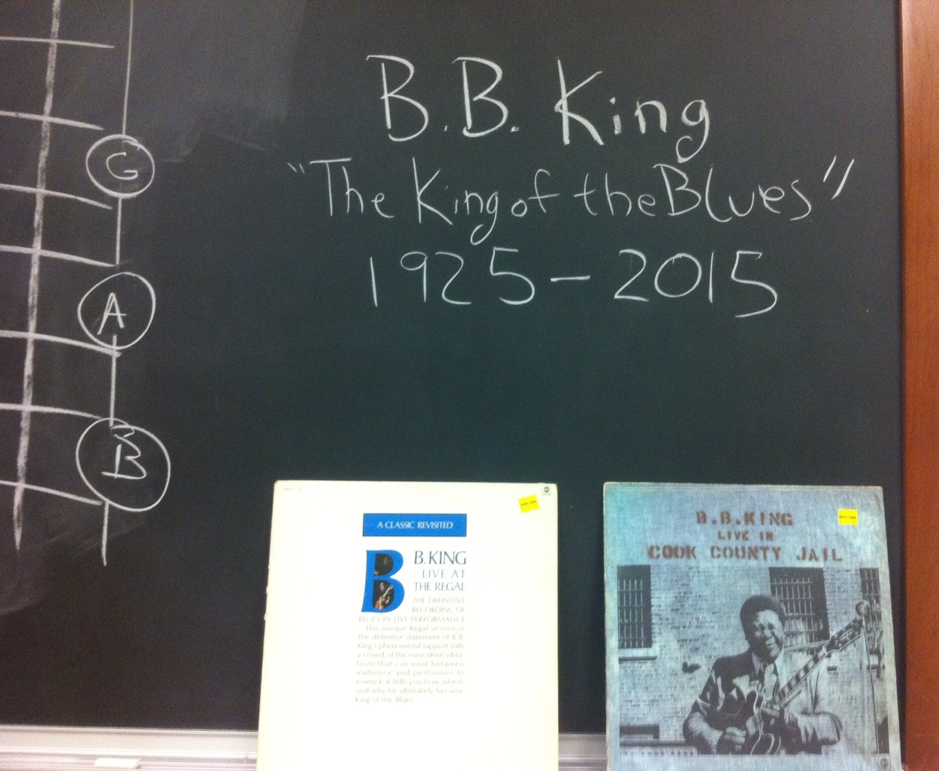 My B.B. King Records in my Classroom